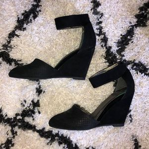 Jeffrey Campbell pointed toe wedges